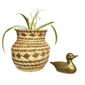 Vintage Mini Brass Duck - Home Decor